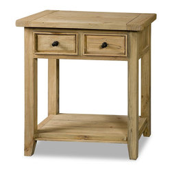 Hillsdale - Hillsdale Tuscan Retreat 2 Drawer Console Table in Weathered Pine - Hillsdale - Console Tables - 4443896W - Tuscan Retreat TM accent pieces are authentic artisan interpretations of old world and cottage furniture. Each piece is crafted from new and restored timbers to give it the appearance of a century old treasure. The finished are hand prepared from the sanding and scrapping to the final steps. Featuring solid wood throughout and old world cabinet construction. Every detail is designed to bring you years of enjoyment.