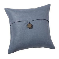 "Textured Pillow Cover, 18"", Blue Dusk - Style essentials for easy home decorating, pillow covers can be switched every season for a fresh, simple update. Pure linen.Piece-dyed for vibrant color.Finished with a knife edge.Features an envelope closure secured with oversized buttons; insert sold separately. Machine wash.Select items are Catalog / Internet Only.Imported."