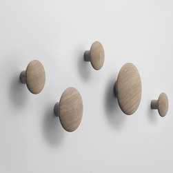 Muuto Dots Wall Hooks - This little family of wall hooks reminds me of mushrooms sprouting from the wall... minus the disconcerting question of why fungus would be growing inside your house.
