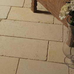 French Limestone Flooring- Givry - Francois & Co. - French Limestone with a fine grain portraying beige to light creamy color with yellow undertone. Some light yellow veining possible but not frequent and occasional open fossil formations.