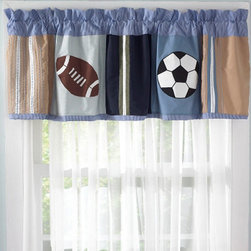 Pem America - My World 18 x 70-Inch Valance with 3-Inch Rod Pocket - - It doesn't matter what season it is you are ready to play!  All State uses current colors and natural cotton face and filling material for a long lasting and comfortable bed  - Valance measures 18 inches high by 70 inches wide with 3 inch rod pocket  - Finish/Color: Multi-Color  - Product Width: 18  - Product Depth: 70  - Product Height: 70  - Fill Material: 100% cotton face material  - Laundering Information: Machine wash cold/gentle, do not bleach, tumble dry low Pem America - VC1935-4100