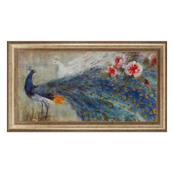 Paragon - Peacocks - Framed Art - Each product is custom made upon order so there might be small variations from the picture displayed. No two pieces are exactly alike.
