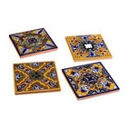 Spanish Garden Tile Coasters (set of 4)