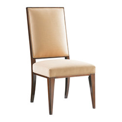 Lexington - Lexington Mirage Leigh Side Chair Set of 2 458-880-01 - Upholstered in soft woven textural fabric with a vanilla cream coloration. The back features the open fretwork used throughout the collection.