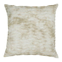 Chandra Rugs - Handmade Contemporary Pillows (Without Down) - CUS28026- 1'6 x 1'6 - Light BRown - Handmade Contemporary Pillows (Without Down) - CUS28026 - 1'6 x 1'6