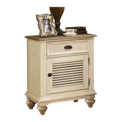 Riverside Furniture - Riverside Furniture Coventry Two Tone Nightstand in Dover White - Riverside Furniture - Nightstands - 32569 - Riverside's products are designed and constructed for use in the home and are generally not intended for rental, commercial, institutional or other applications not considered to be household usage.