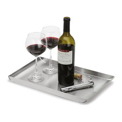 Blomus - Fuente Stainless Steel Rectangular Tray - Made of stainless steel. Designed by Floz Design. 1-Year manufacturer's defect warranty. 11.85 in. L x 5.14 in. W x 0.79 in. H