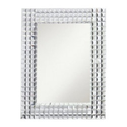 Bling Rectangle Wall Mirror - 38W x 28.5H in. - About KichlerKichler designers travel the world to discover the latest trends in exterior and interior style, colors, and designs. They then translate the best of those trends into fixtures that will bring beauty, pleasure, and light into your home. Kichler fixtures stand the test of time and are functional works of art that you're sure to treasure.