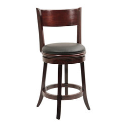 "Boraam - Boraam Palmetto 24"" Swivel Counter Stool in English Tudor - Boraam - Bar Stools - 44124 - Boraam's high quality products are well styled and priced right. Benefitting from years of experience in the industry. Boraam knows what you look for in quality furniture and takes pride in getting orders out as diligently as possible. Feel confident that Boraam will take your living space to another level."