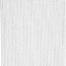 Ribbed White Bath Sheet - Broad borders of vertical ribbing with flat banded edges finish our spa-style white towels in absorbent 500-gram cotton.