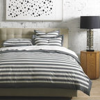 Graphic Stripe Ink Duvet Set - I dream in stripes. It's true.