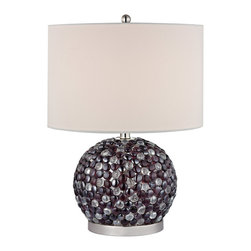 Dimond Lighting - Dimond Lighting D2492 Amethyst Stone 1 Light Table Lamps in Amethyst Stone - Bejewelled Accent Lamp