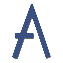 """Blue Contemporary House Letters - These 5"""" Blue Powder Coat letters will add a splash of color and give your home a contemporary curb appeal."""