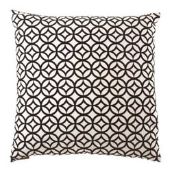 D.V. KAP Home - Prism 24 x 24 Decorative Pillow - -24x24 zippered removable cover  -Comes with Feather/Down insert  -Spot or dry clean D.V. KAP Home - 2007