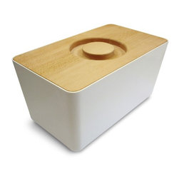 Bread Box - This is an elegant way to store and serve bread. In addition to the modern, clean, crisp design, I love that the lid doubles as a cutting board.