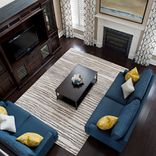 Transitional Family Room by Gabriele Pizzale Design Inc.