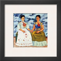 Artcom - The Two Fridas, c.1939 by Frida Kahlo - The Two Fridas, c.1939 by Frida Kahlo is a Framed Art Print set with a SOHO Thin wood frame and a Polar White mat.