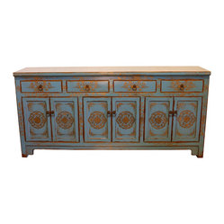 Blue and Gold Cabinet