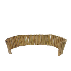 "Master Garden Products - Level Regular bamboo edging, 12""H x 96""L - These self- standing bamboo edgings are great as accents in your garden. These are made of 1.5 diameter bamboo poles for visual enhancement. It is flexible and can be bent to different shapes, such as a circle. The top of the poles are cut just above the notch so water will not accumulate in the bamboo poles. The bamboo is drilled and strung together using heavy galvanized wire but designed in a way so that no wire is visible. Comes in rolled form so it is flexible and very easy to install."