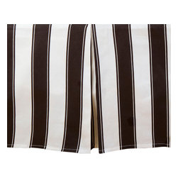 Sin in Linen - Black and White Stripe Bed Skirt, Twin - This classic black and white stripe bedding is a great bedroom focal piece with its large graphic stripes.
