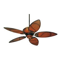 """Emerson Fans TB301MAB Paradise Key Medium Antique Brown Ceiling Fan - Emerson TB301MAB Paradise Key Ceiling Fan. - Wattage: 112 W. - Installation Required: Yes. - Shade Color: Amber. - Shade Materials: Glass. - Shade Width: 52"""". - Weight: 32lbs."""