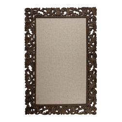 """Gracious Goods GG - Linen Office Bulletin Board with Aluminum Frame by the GG Collection - Post your priorities with pride on our Linen Office Bulletin Board with Aluminum Frame by the GG Collection. Enjoy its beauty and functionality in your office.     * Dimensions: 25"""" Wide x 37"""" Tall"""