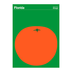 Florida Orange Print - Florida waited till as late as 2005 to designate the state fruit to be the Orange. Not sure what they were waiting for as we could have told you that decades earlier. By the way orange juice is the state beverage and the orange blossom is the state flower of Florida.