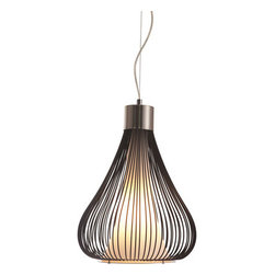 Interstellar Ceiling Lamp Black - Zuo Interstellar Ceiling Lamp BlackThe contrast between frosted glass and metal wire with a splash of chrome all comes together in harmony with the Interstellar ceiling lamp. It is UL approved. The height is fully adjustable.Finish: Black