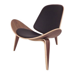 #N/A - The Bishop Chair - Black - The Bishop Chair - Black. The Bishop Chair is one of Hans Wegner's most iconic chairs. Bishop Chairs achieve their floating lightness thanks to wing-like lines and arching curves of a three-legged design. Hans Wegner first drew up the CH07 Shell Chair in 1963. It also known as the Smiling Chair, is renowned for its timeless style and its generous comfort.