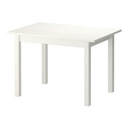 Sundvik Children's Table, White - This kid-sized table for reading and coloring is small, simple and affordable.