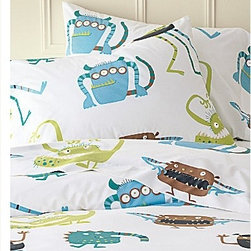 Monster Percale Bedding Sheet Sets - Trolls and ogres are not usually the first thing one thinks of when dreaming up sheet sets. However, there is something so much fun about these little guys that they are simply irresistible, whether you're a child or an overgrown kid.