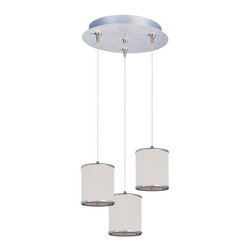 ET2 - ET2 E95493-102SN Elements Adjustable RapidJack Modern / Contemporary Pendant Lig - The Elements collection offers the freedom of choice in lighting design. Start with the style selection - pendant, mini pendant, or wall sconce - then choose the right shape, square or circular, for the space. Wrap the selected Oil Rubbed Bronze or Satin Nickel lamp in one of five color options that will make just the right statement: Grass Cloth, White Weave, White Pleat, Crimson or Satin White.  Finally, choose the perfect light source for the task. Whether fluorescent, xenon, or incandescent, this collection brings together all the right elements.
