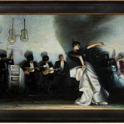 overstockArt.com - Sargent - El Jaleo Oil Painting - El Jaleo , is a beautiful setting of a Spanish dancer and live band is sure to capture your guests attention. This reproduction is made with exceptional use of color, detail and brush strokes. John Singer Sargent was an American painter and best known for his portraits. His works include 900 oil paintings and more than 2,000 watercolors. Your friends and family are sure to admire this beautiful canvas.