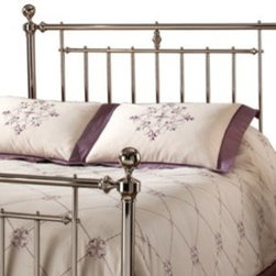 Hillsdale - Hillsdale Holland Headboard with Rails - The shiny nickel finish and cannonball finials are the hallmarks of the Holland bed. A traditional style with just a bit of flair makes Holland a wonderful addition to any master bedroom or guest room. Assembly required. Imported.