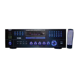 PYLE - Pyle PD1000A 1000 Watt AM-FM Receiver with Built-in DVD-MP3-USB - This pyle-pro 1000-Watt receiver has a built in DVD player, USB drive, and auxiliary RCA input. in other words, it can handle almost anything you throw at it - your favorite movies, the video clips you store on your USB drive, or your favorite music on your ipod! Each input has its own gain control. The digital colorful fluorescent display shows relevant track and disc information in addition to proving a power level DB display. This unit is also equipped with an AM/FM tuner with up to 60 presets. Powers up to 4 speakers. It has RGB, RCA, and S-video outputs as well as a subwoofer line output. Runs on 110 or 220 V.