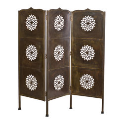 C.G. Sparks - Lotus 3 Panel Screen Black Laquer - Product Features: