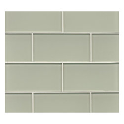 "Spa Glass - Surf 3"" x 6"" Subway Glass Tile, Carton - Warm inviting Surf 3X6 Glass Subway Tiles evokes trolls along sable sands and wild sea oats. This hottest of our new colors is perfect for brightening any space, this is the ideal tile for a backsplash, kitchen tile or bathroom tile. The tiles are individual (not mesh mounted) which allows the designer to create any configuration like traditional subway, stacked horizontal, vertical, herringbone or even create your own blend of colors. These are a very high grade glass subway tile with a baked polypropolene backing reflecting the color back thru a very clear glass. The tiles are kilned at very high temperature to make these rated as a ""Pool Tile"" which makes the glass very durable and ideal for shower walls, wet areas and back splashes. Each piece is 3X6 and softly beveled.There are 8 pieces per square foot and the square foot price is $15.00. They come in boxes of 4 square feet or 32 pieces.The Price listed is for a single CARTON OF 4 SQUARE FEET."