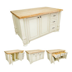 Lyn Design ISL05 Kitchen Island