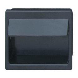 Hafele - Hafele: Flush Handle: Plastic: Black: 80 X 40mm - Hafele: Flush Handle: Plastic: Black: 80 X 40mm