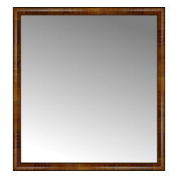 """Posters 2 Prints, LLC - 40"""" x 43"""" Belmont Light Brown Custom Framed Mirror - 40"""" x 43"""" Custom Framed Mirror made by Posters 2 Prints. Standard glass with unrivaled selection of crafted mirror frames.  Protected with category II safety backing to keep glass fragments together should the mirror be accidentally broken.  Safe arrival guaranteed.  Made in the United States of America"""