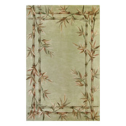"""Kas - Country & Floral Sparta Hallway Runner 2'6""""x10' Runner Sage Area Rug - The Sparta area rug Collection offers an affordable assortment of Country & Floral stylings. Sparta features a blend of natural Mocha color. Hand Tufted of 100% Wool the Sparta Collection is an intriguing compliment to any decor."""