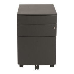 Euro Style - Euro Style Floyd Ppf Filing Cabinet X-KLB58972 - Two smaller upper drawers for rocks, scissors and paper. You could use the rocks for paperweights when the game is over. The bottom drawer is a 22 inch file cabinet full extension slides and a supporting front coaster.