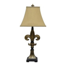 YOSEMITE HOME DECOR - 1 Light Resin Table Lamp with Fabric Shade - - 31 Inch Resin Table Lamp with Fabric Shade