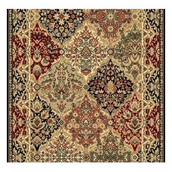 """Dynamic - Ancient Garden 31"""" Runner Traditional Stair Runner - Stair & Hallway Runners Are Sold By The Linear Foot!  Quantity 1 = 1 Linear Ft  All Sides Are Finished   Anc't Gard  57008-3939 31 Dynamic Rugs"""
