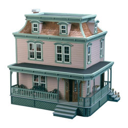 Greenleaf - Greenleaf Lily Dollhouse Kit - 1 Inch Scale - 9304 - Shop for Dollhouses and Dollhouse Furnishings from Hayneedle.com! Remarkable attention to detail sets an immediate and impressive tone for the Greenleaf Lily Dollhouse Kit - 1 Inch Scale. This fashionable Victorian replica features seven full-sized rooms one large hallway that can be furnished as an additional room and an elegant foyer with exquisite double doors. Crafted from durable plywood with shingles made from birch veneers it opens across the back for easy access and includes such stylish finishing touches as a Mansard roof wrap-around porch and ornamental trim that ties all these endearing elements together. This dollhouse comes unassembled; approximate assembly time is 40 hours. It also comes unfinished and ready to paint. Paint not included. About GreenleafEstablished in 1947 Greenleaf Steel Rule Die Corp is a leading manufacturer of all-wood dollhouse kits furnishings and accessories. Located in Schenevus N.Y. Greenleaf is acknowledged by many in the miniatures industry for its outstanding design and superior quality. Greenleaf wooden dollhouse kits are an ideal project for collectors or families who want to create lasting keepsakes.