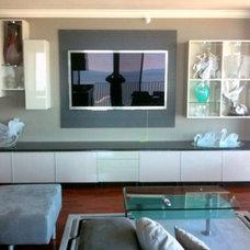 Contemporary Living Room by Gene Sokol / Euroluxe Interiors