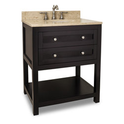 Hardware Resources - VAN092-30-T Jeffrey Alexander Vanity with Preassembled Top and Bowl in Espresso - Jeffrey Alexander Vanity with Preassembled Top and Bowl by Hardware Resources
