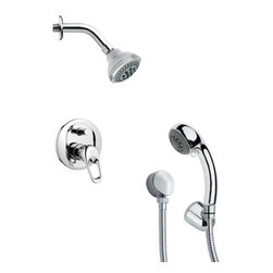 Remer - Contemporary Round Chrome Shower Faucet with Handheld Shower - Multi function shower faucet.