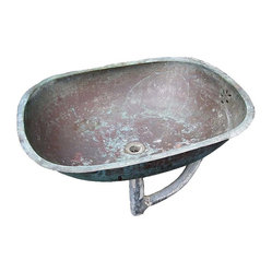 Perfectly Patinated Antique Copper Sink