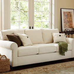 """Buchanan Upholstered Sleeper Sofa, Polyester Wrap Cushions, Washed Grainsack Ado - Merging versatile style with exceptional comfort, our Buchanan Sleeper Sofa is simply the best value you can find. 87"""" w x 71"""" d x 39.5"""" d x 36.5"""" h {{link path='pages/popups/PB-FG-Buchanan-3.html' class='popup' width='720' height='800'}}View the dimension diagram for more information{{/link}}. {{link path='pages/popups/PB-FG-Buchanan-5.html' class='popup' width='720' height='800'}}The fit & measuring guide should be read prior to placing your order{{/link}}. Polyester-wrapped cushions have a neat and tailored look. Proudly made in America, {{link path='/stylehouse/videos/videos/pbq_v36_rel.html?cm_sp=Video_PIP-_-PBQUALITY-_-SUTTER_STREET' class='popup' width='950' height='300'}}view video{{/link}}. For shipping and return information, click on the shipping info tab. When making your selection, see the Special Order fabrics below. {{link path='pages/popups/PB-FG-Buchanan-6.html' class='popup' width='720' height='800'}} Additional fabrics not shown below can be seen here{{/link}}. Please call 1.888.779.5176 to place your order for these additional fabrics."""